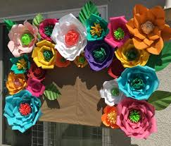 Mexican Themed Decorations Paper Flower Backdrops For Birthday Wedding Babyshower Celebration