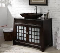 adelina 38 inch vessel sink bathroom vanity granite top awesome