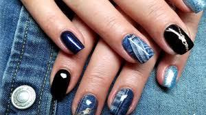 salon nails with design vanilla nail art 3 youtube