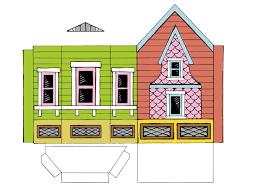 printable model house template peach bum up house printable template
