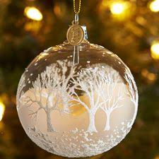 european glass white tree ornament 1