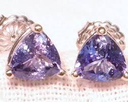 tanzanite stud earrings tanzanite studs etsy