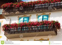 blumen fã r balkon traditionelle alpine häuser mit blumen auf balkon cortina d amp