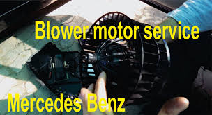 blower motor service and fix repair for mercedes benz youtube