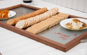 diy tray diy wood and steel serving tray a houseful of handmade