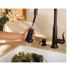 rustic kitchen faucets rustic bronze ashfield 1 handle pull down kitchen faucet gt529