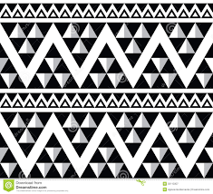 tribal aztec abstract seamless pattern stock illustration
