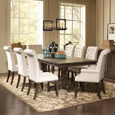 french baroque designed dining set with rolled back button tufted