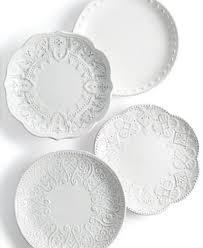 horderve plates maison versailles blanc set of 4 assorted appetizer plates
