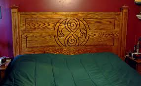 doctor who inspired king sized red oak headboard the geek woodworker