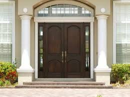 Home Entrance Decor Decorations Contemporary Double Brown Entry Door Design With