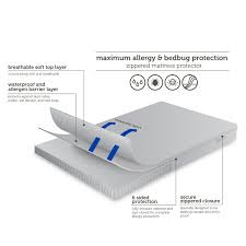 allerease maximum allergy u0026 bed bug protection zippered mattress