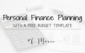 personal finance planning with a free budget template dave