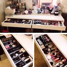 Makeup Organizer Desk Vanity Makeup Organizer Ideas Home Design Plan