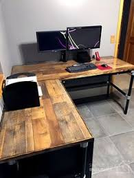 Building A Wooden Desk by Diy Rustic Office Desk Homemade Desks Pinterest Rustic