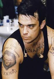 tattooed celebrity robbie williams tattoos