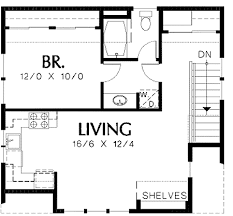 Apartments Over Garages Floor Plan | garage plan with apartment above 69393am architectural designs