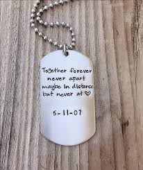 custom dog tag necklace distance relationship custom dog tag sted gift