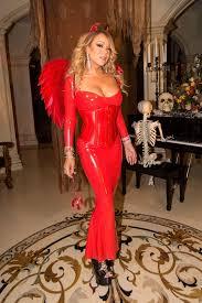 Latex Halloween Costume Pop Diva Mariah Carey Sizzles Red Latex Devil Costume