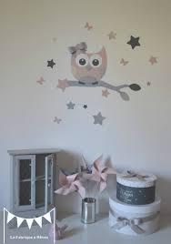 chambre fille etoile stickers décoration chambre enfant fille bébé hibou chouette