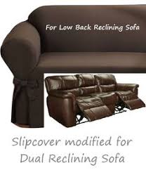 Reclining Sofa Slip Cover Dual Reclining Sofa Slipcover Farmhouse Twill Taupe Adapted For