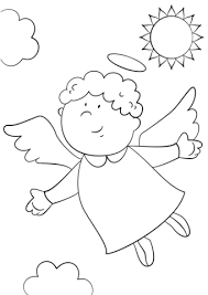 cute angel coloring free printable coloring pages