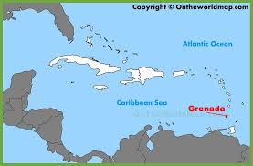 grenada location on world map grenada location on the caribbean map