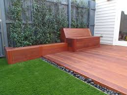 Courtyard Ideas Small Court Yard Brought To Life With Merbau Decking A Built In