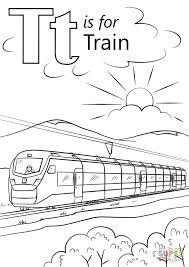 train coloring pages kids 87201