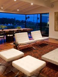Mies Van Der Rohe Bench Mies Van Der Rohe Chair Living Room Modern With Arc Lamp Area Rug