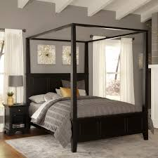 beautiful wood canopy bed queen size 6691