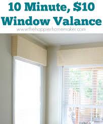window valances ideas 10 minute 10 diy window valance popular post round robin the