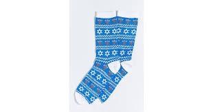 chanukah socks outfitters chanukah sock in blue for men lyst