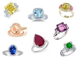 coloured wedding rings images List of the gemstone which look best as engagement ring gemstone jpg