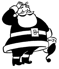 vintage santa clipart black and white clipartsgram com