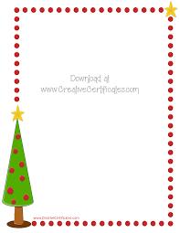 christmas border writing paper free christmas border templates customize online or print as is xmas tree border