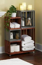 Ideas For Bathroom Shelves Diy Bathroom Storage Shelves Made From Wooden Crates Wooden