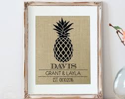 Home Decoration Gifts Pineapple Decor Etsy