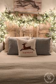 decorate the headboard for christmas here are 20 ideas