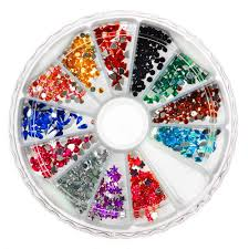 3d nail rhinestones manicure wheel 2500pc gift boxed diy