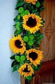 sunflower kitchen decorating ideas sunflower horizontal floral swag decoration above largest window in