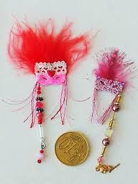 miniature mardi gras masks 1 12 scale 2 pink mardi gras masks lot by artisan d paone