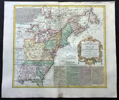 Large Map Of United States by 1756 Homann Large Antique Map Of The Colonial United States