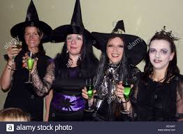 group of 30 year old women dressed up in halloween fancy dress
