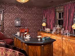 design house skyline yellow motif wallpaper basement bar ideas and designs pictures options u0026 tips hgtv