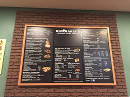 restaurant renovation creative faux panels menu board backed by a