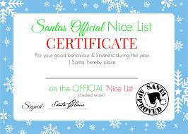 Printable Halloween Certificates Christmas Nice List Certificate U2013 Free Printable U2013 Super Busy Mum