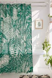 Urban Outfitters Waterfall Ruffle Curtain by A Beautiful Mess Bathroom Makeover Tassel Shower Curtain Love