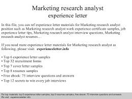 marketingresearchanalystexperienceletter 140822104951 phpapp02 thumbnail 4 jpg cb u003d1408704616