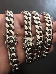 steel link bracelet images 12mm mens cuban miami link bracelet chain set white gold over jpg